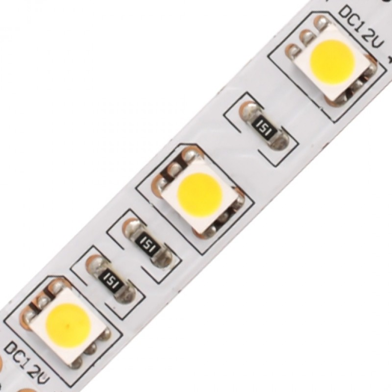 LED Strip Light / 5050SMD 60LED / 14.4W / 12V / 6000K / IP20
